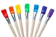Rainbow paint brushes