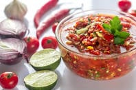 salsa + ingredients