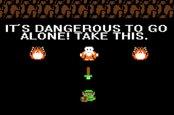 Zelda screenshot - it is dangerous to go alone