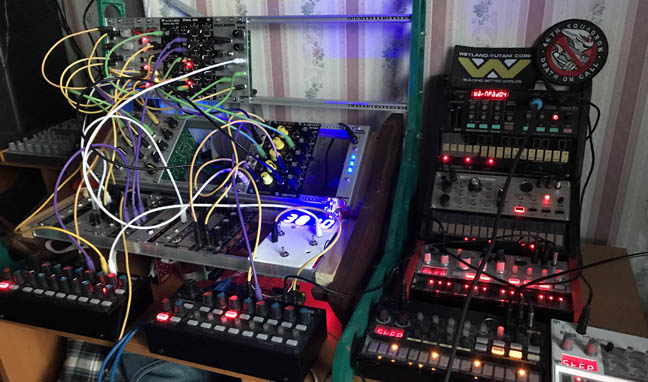 Eurorack Synthesiser, photo: Andy Cobley