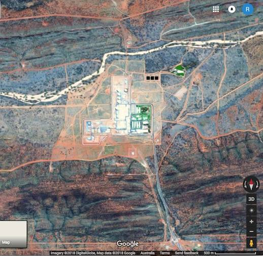 Pine Gap on Google Maps