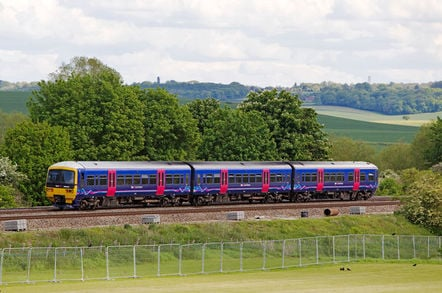 A train passes in Moulsford, OXFORDSHIRE - midsomer murders town