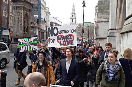 Lauri Love, seen on the Strand in central London after his extradition appeal succeeded