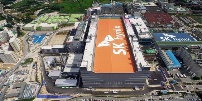 aerial shot of sk hynix flash fab