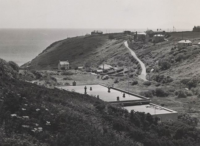 1947 view point from top of emergency tunnel photo Telegraph Museum Porthcurno
