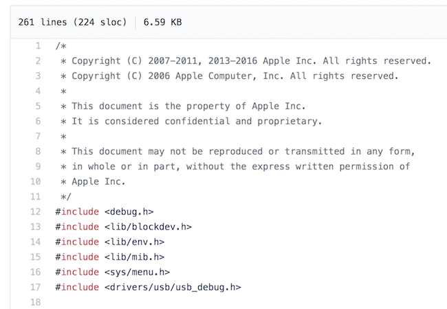 Apple ordered GitHub to remove iOS source code leak