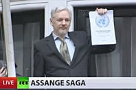 Julian Assange, as featured by the Russia Today propaganda station