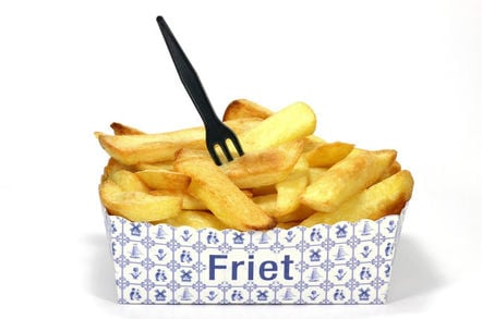 """Flaamse friet"" traditional Flemish chips as sold in the Netherlands/Belgium etc"
