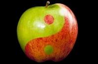 Apple yin Yang symbol