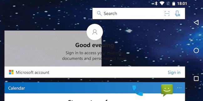 Gemini screenshot - Microsoft Launcher confused