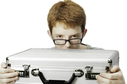 nerd with briefcase