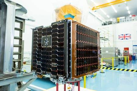 The Carbonite-2 satellite by Surrey Satellites. Pic: SSTL/Beaucroft Photography