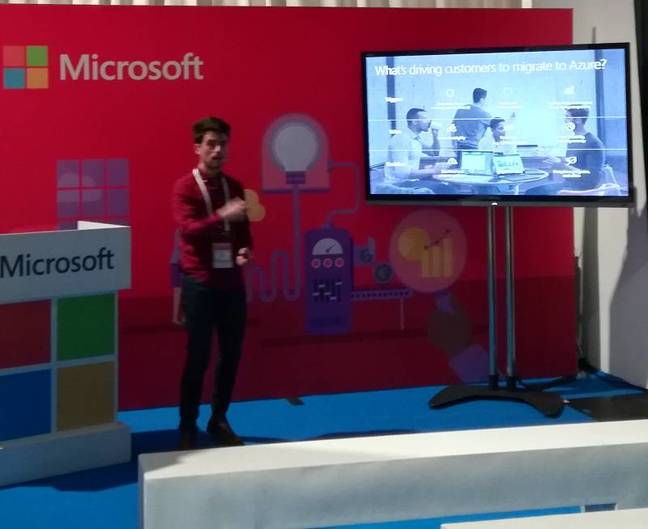 Microsoft was at MWC, pitching Azure to startups