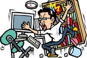 man worries as earthquake shakes shelf