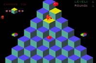 Screenshot of Qbert video game