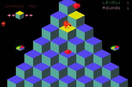 Screenshot of Qbert video game