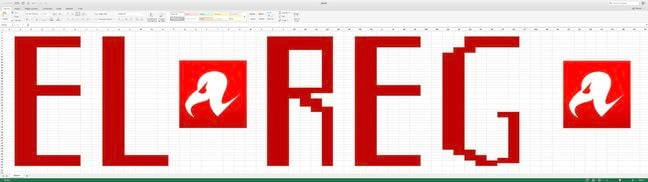 Excel on a 49-inch monitor