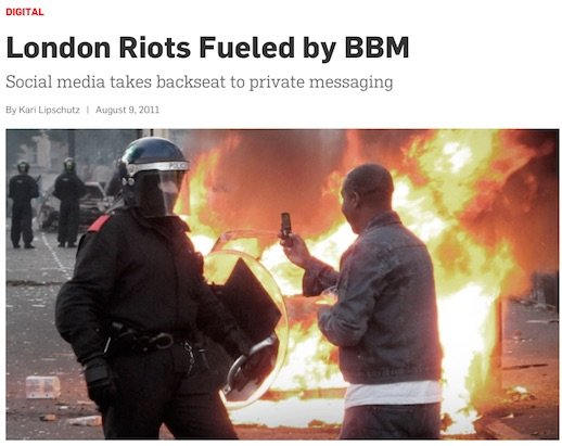 BBM blamed for 2011 riots