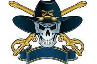 Skull and crossbones cavalry insignia