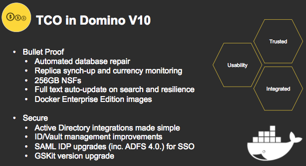 Some features coming to version 10 of IBM/Lotus/Notes/Domino