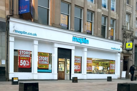 Snap of Glasgow Maplin store closing sale sent in by reader David