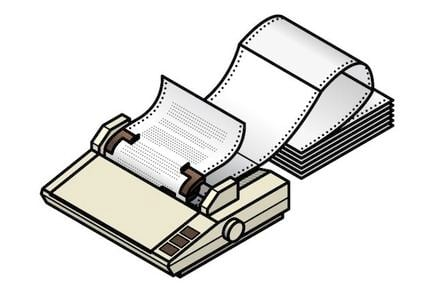 Dot matrix printer with continuous stationery