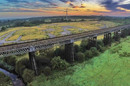Bennerley viaduct from drone photo Sustrans