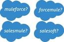 Salesforce Mulesoft acquisition logo mashup fun