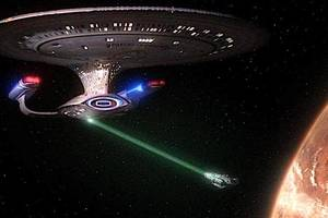 A tractor beam from NASA space documentary: Star Trek, The Next Generation