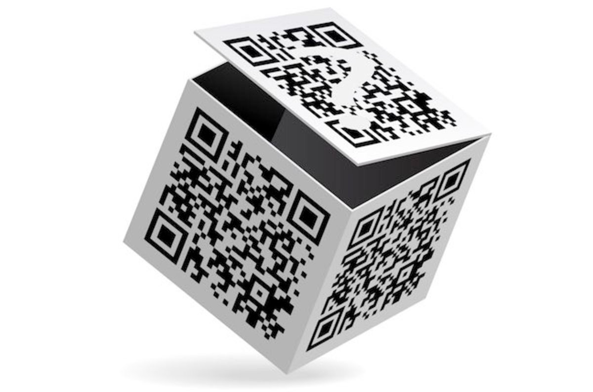 Reflection Of A Qr Code On Pos Scanner Used To Own Mobile