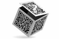 QR codes on a box