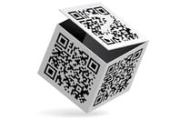 QR codes on a box
