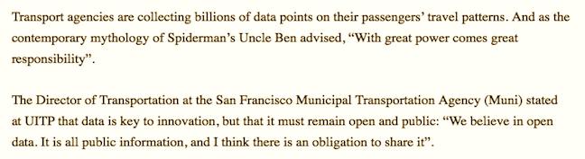 Reader comment open data