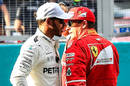 Lewis Hamilton, left, and Kimi Raikkonen