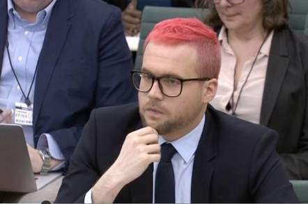 Chris Wylie gives evidence to MPs