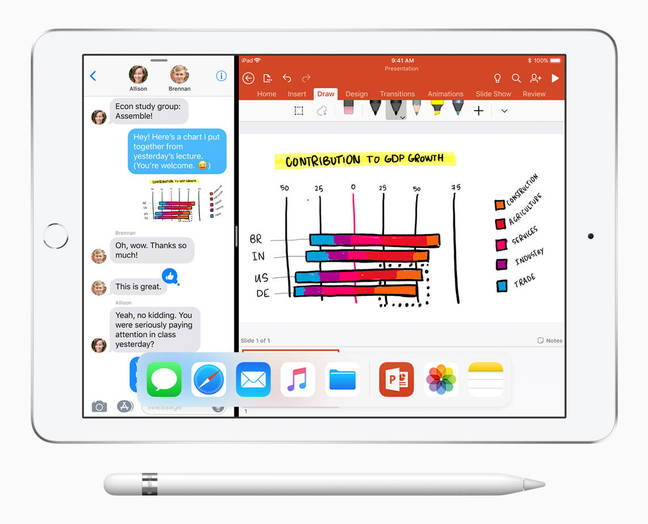 The new 9.7in iPad with Pencil