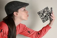 Someone trying to use a QR code if QR codes were ever this cool