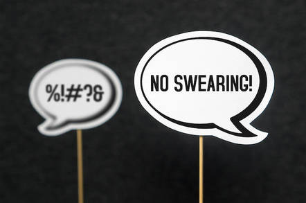 No swearing WTF?