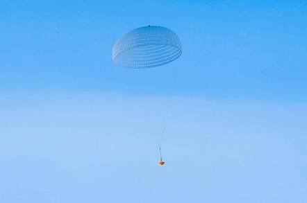 ExoMars parachute inflation (credit: ESA/I.Barel)