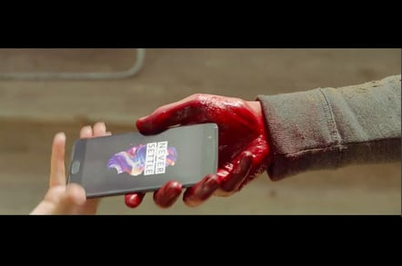 OnePlus ad Lake Horror teaser