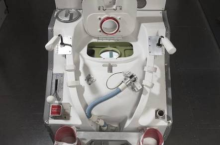 Space Shuttle toilet (pic: Smithsonian)