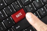 Red hate key on a keyboard