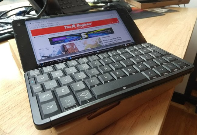 close-up of gemini pda (planet computing)