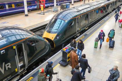 great westren railway ticket + train