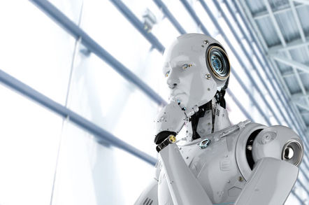 Robot thinking.