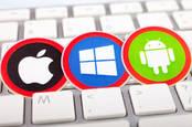 Microsoft, Apple, Google OS logos