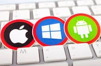 Microsoft, Apple, Google OS logos