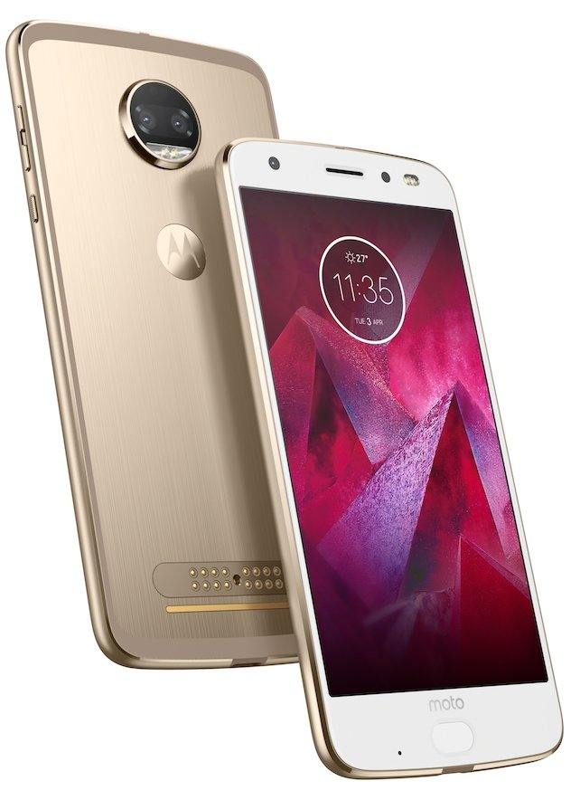 Motorola Z2 Force (White, Product render)
