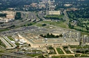 Pentagon - building - houses the US dept of defense in Arlington Virginia