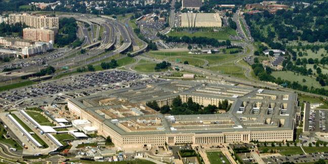 Pentagon - building - houses the US dept of defense in Arlington Virginia